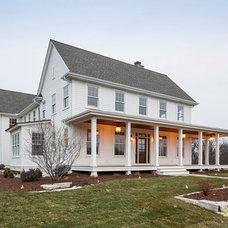 Farmhouse Exterior by Hendel Homes