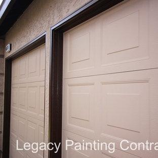 Exterior House Painting, Livermore, CA.:  Garage door trimwork
