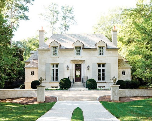 French provincial exterior houzz - Chic french country inspired home real comfort and elegance ...