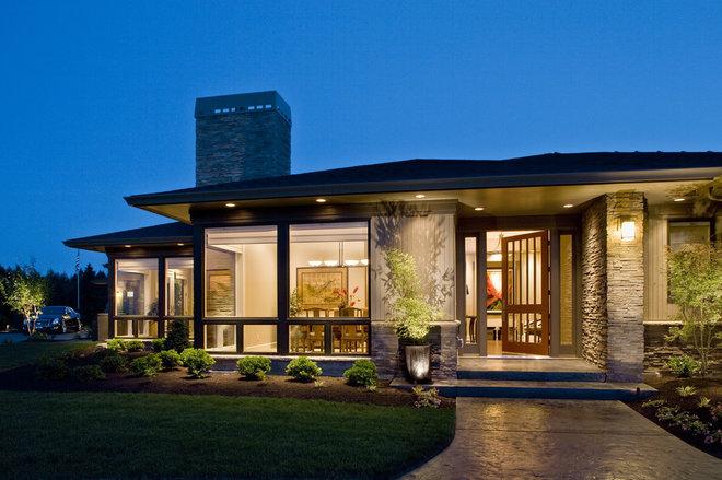 Contemporary Exterior by Kaufman Homes, Inc.