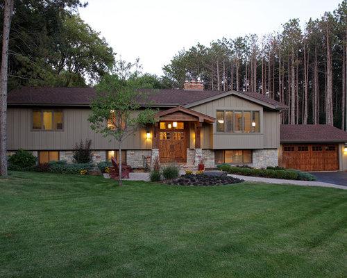 Split Level Exterior Home Design Ideas Pictures Remodel