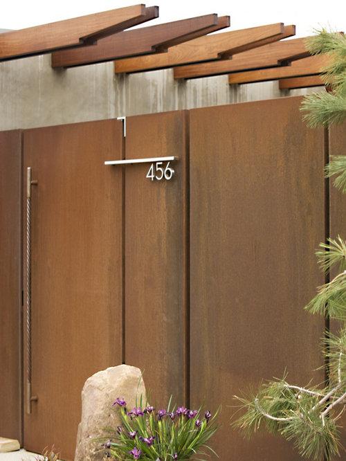 Corten Steel Door Ideas Pictures Remodel And Decor