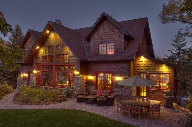 Rustic Exterior by Lands End Development - Designers & Builders
