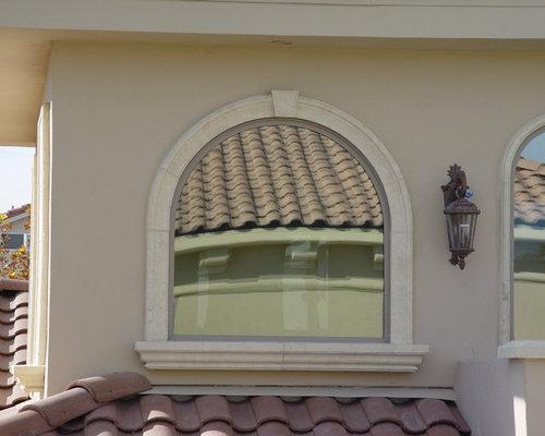 Traditional las vegas exterior home design ideas remodels for Exterior window design molding