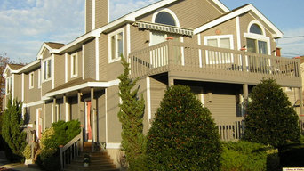 Exterior of a Summer House Painted and Stained in Stone Harbor, NJ