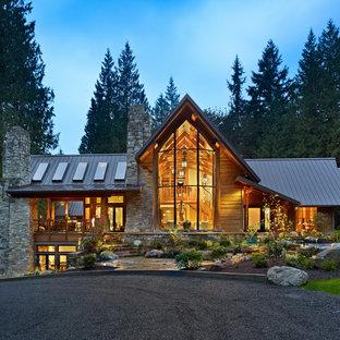 Contemporary exterior home idea in Seattle