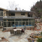 Interior Of Endless Pool And Sunroom Traditional Pool