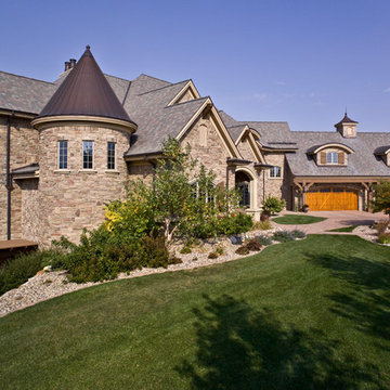 Exterior of French Country New Home