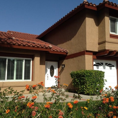Inspiration for a timeless orange exterior home remodel in Orange County
