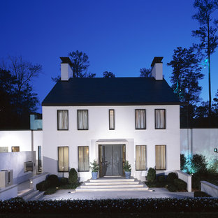 Transitional two-story exterior home photo in Atlanta