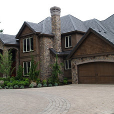 Traditional Exterior by Jacki Hunlow Design