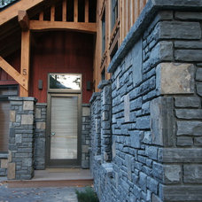 Traditional Exterior by Sticks and Stones Design Group inc.