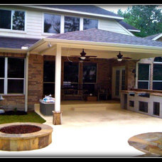 Traditional Exterior by AARCON Construction and Remodeling