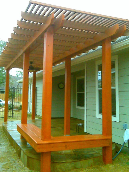 Treated pine pergola houzz for Pergola images houzz