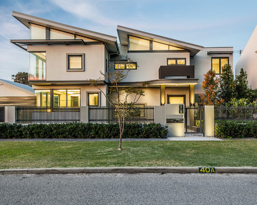 Front Elevation Metal Roof : Sloped roof front elevation houzz