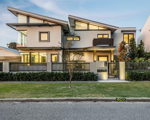Front Elevation Slanting Roof Design : Sloped roof front elevation home design ideas pictures