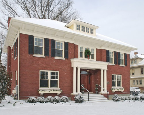 Brick colonial exterior houzz for Colonial brick
