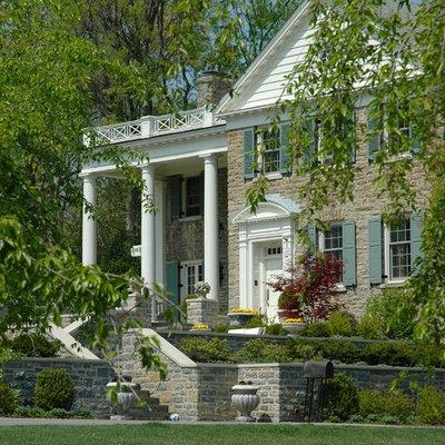 Elegant stone exterior home photo in Cincinnati
