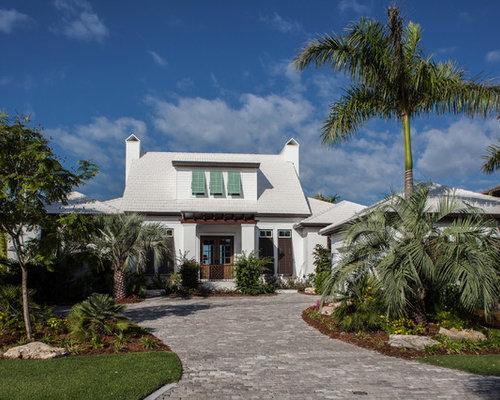 foto e idee per facciate di case facciata di una casa ForPiani Di Casa Tropicale Con Cortili