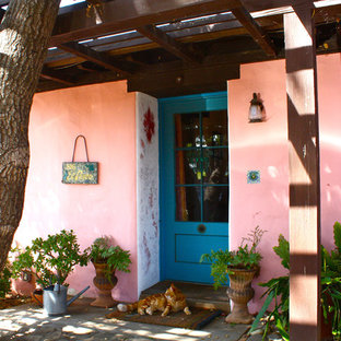 This is an example of a pink exterior in Santa Barbara.
