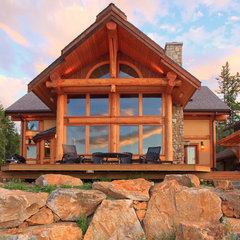 modern exterior by Traditional Log Homes Ltd