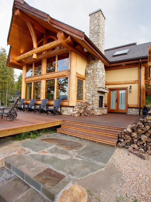 Log Trim Home Design Ideas Pictures Remodel And Decor