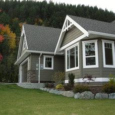 Traditional Exterior by Sonbuilt Custom Homes Ltd.