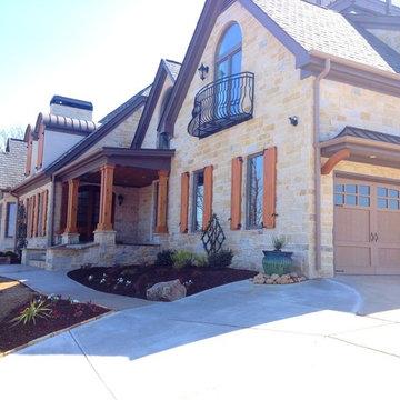 Exterior Stone Veneering and Cedar Accents