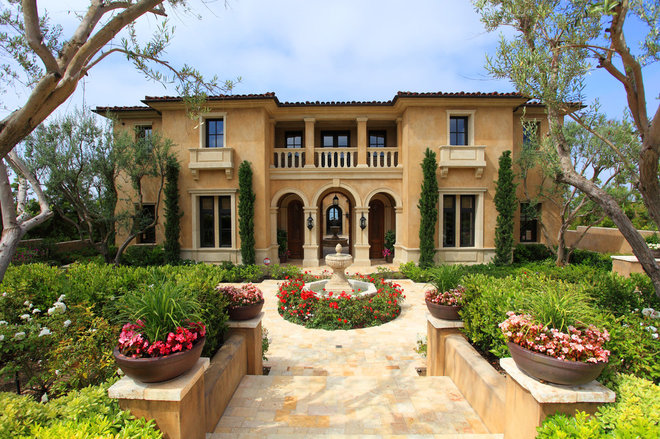 Mediterranean Exterior by Naylor & Son's Plastering Co. Inc.