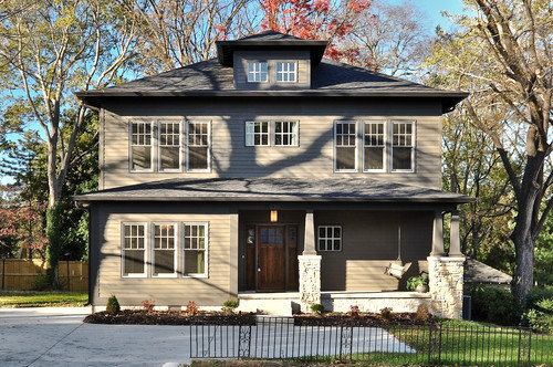 Square House With Columns : Houzz exterior stone columns design ideas remodel pictures