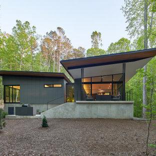 Idéer för funkis grå hus, med allt i ett plan