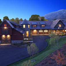 Rustic Exterior by THINK architecture Inc.