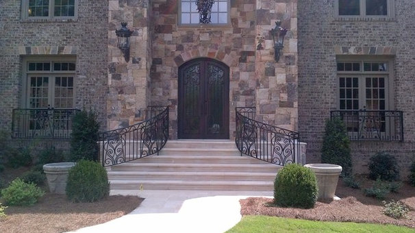 Mediterranean Exterior by Womack Iron