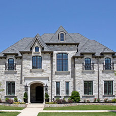Transitional Exterior by Atwood Custom Homes