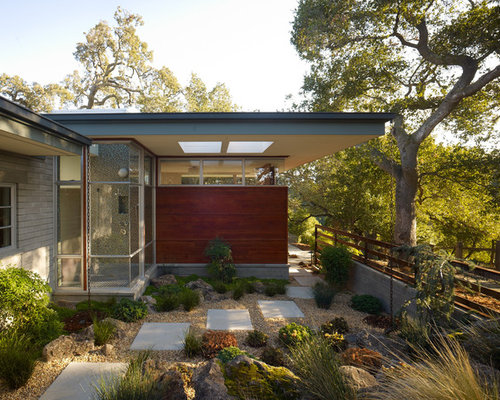 mid century modern exterior home design ideas pictures remodel and