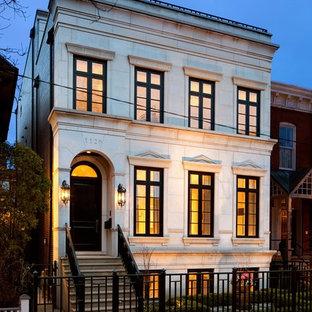 シカゴのトラディショナルスタイルのおしゃれな家の外観 (タウンハウス) の写真