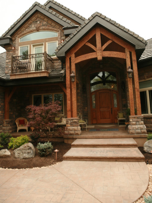 Timber Frame Entrance Design Ideas Remodel Pictures Houzz