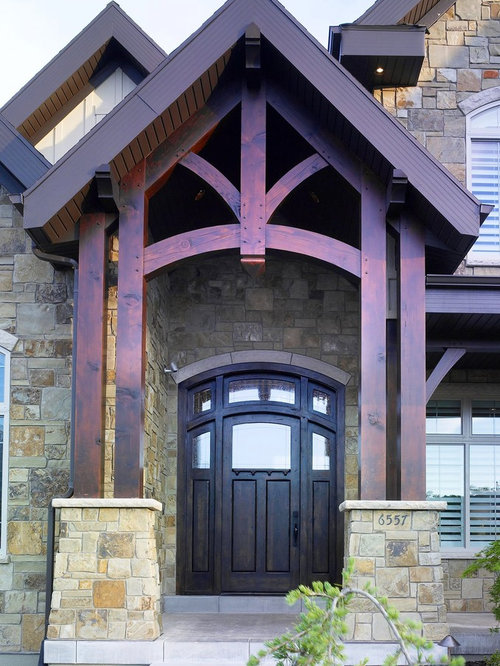 Timber Frame Entry Home Design Ideas Pictures Remodel