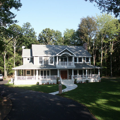 Traditional Exterior by Lane Builders LLC