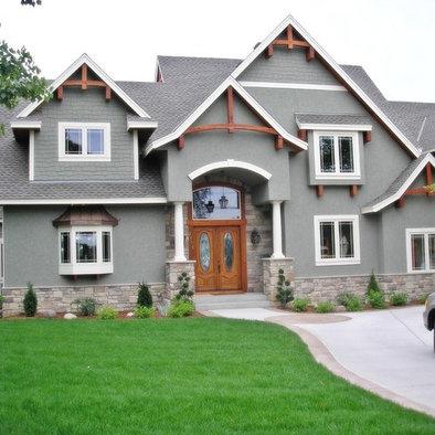 Grey Stucco Homes