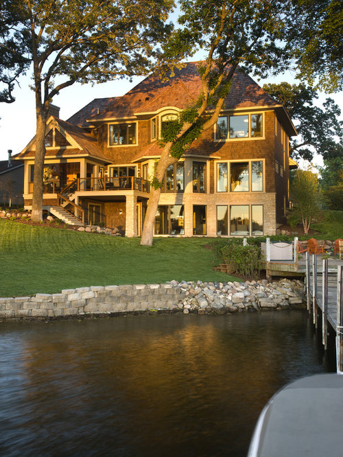 lake house exterior home design ideas pictures remodel and decor