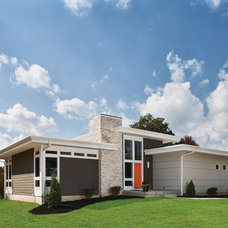 Midcentury Exterior by The Leland Group