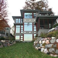 Contemporary Exterior by udvari-solner design company