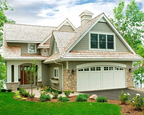 Craftsman split level exterior design ideas remodels photos for Craftsman style split level homes