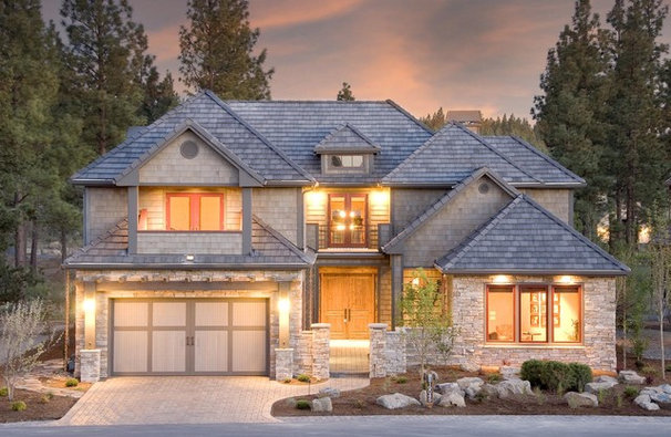 Traditional Exterior by Suzanne Marie's Interiors, Suzanne Denning