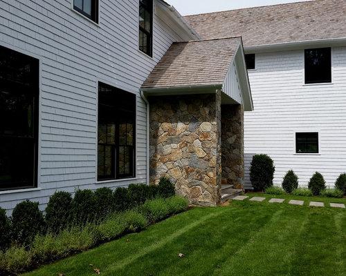 House facades stone brick stucco for Stucco facade