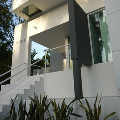 modern exterior by Dorlom Construction