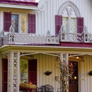 Idéer för att renovera ett vintage trähus, med två våningar