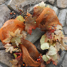 Traditional Exterior Fall Wreath