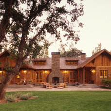 Rustic Exterior by Tucker & Marks